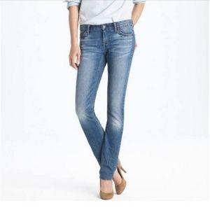 J. Crew Matchstick Stretch Light Wash Jeans 27s